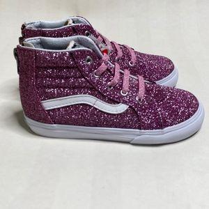 NIB Vans Sk8-Hi Zip Sneaker Pink Glitter